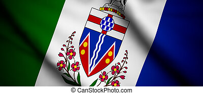 Yukon - High detailed waving flag of different countries...