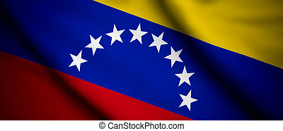 Venezuela - High detailed waving flag of different countries...