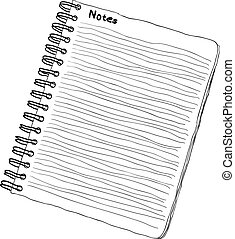 notebook - doodle notebook - black and white colors