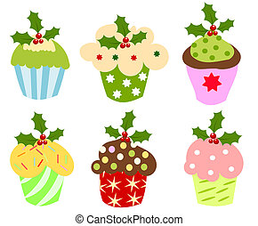 Christmas cupcakes - Christmas set of sweet cupcakes...