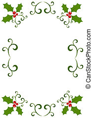 Christmas holly frame - Christmas vintage frame made of...