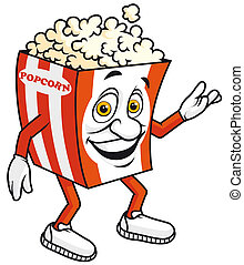 Popcorn mascot - Isolated illustration Popcorn mascot