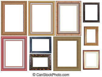 collection of picture frame high resolution isolated over...