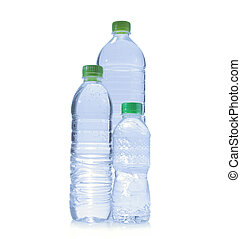 Polycarbonate plastic bottles of water