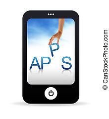 Apps Mobile Phone - High resolution Mobile phone graphic...