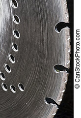 Saw blade - Close-up of a brick cutting saw blade