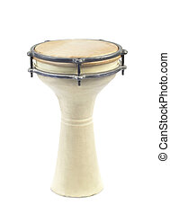 drum isolated - African drum isolated on a white background...