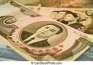 North Korean currency - Close up of an 100 Won note from...