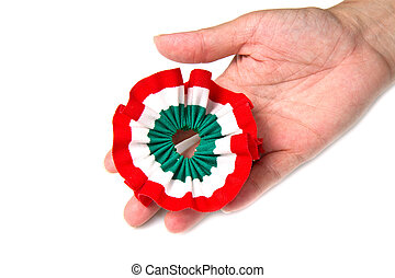 ribbon - cockade with italian flag color