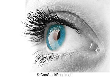 mujer, ojo