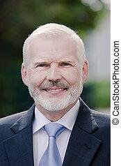 Senior businessman portrait positivity smile