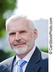 Senior businessman portrait smile positivity