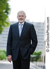 Senior businessman portrait confident
