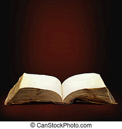 Opened magic book with magic light for you design