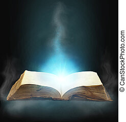 magic book - Opened magic book with magic light for you...