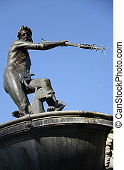fountain Neptune, Danzing, Gdansk, Poland - fountain Neptun...