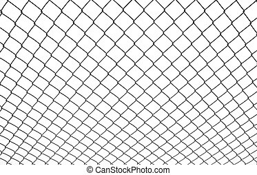 chainlink fence isolated on white