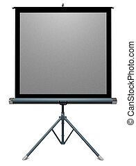 Projection Screen - 35mm portable slide projector screen on...
