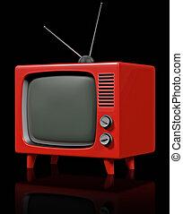 Retro plastic TV