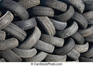 Old tires - Background of old rubber tires