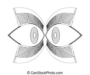 Abstract Eyes Vector