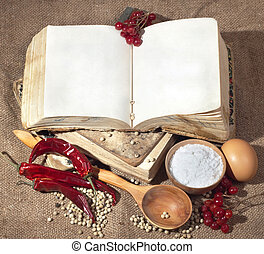 books to record - Old medieval books to record your recipes