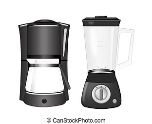 coffee machine and blender - black coffee machine and...