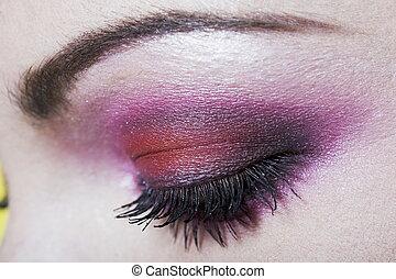 Woman Eye Makeup