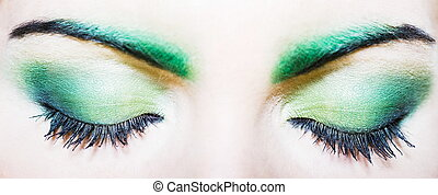 Woman eye makeup