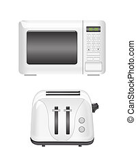 microwave and toaster