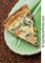 Spinach, Mushroom and Shallot Quich