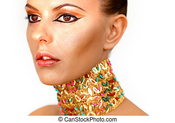 Queen of Egypt - Gorgeous woman looking like Egyptian...
