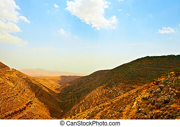 Mountainous - Harsh Mountainous Terrain in the West Bank,...