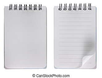 Blank notebook with and without grid