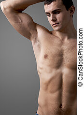 Shirtless man - Image of handsome man with bare torso posing...