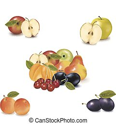 Big group of different fruit.