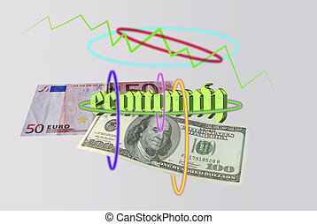 Economy and monetary system Conceptual image