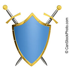 espadas, &, escudo