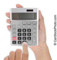 hand with calculator