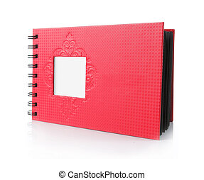 Photo album - red Photo album isolated over white background