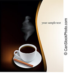 Coffee cup on black background Vector