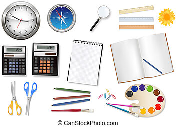 Computer and office supplies Vector