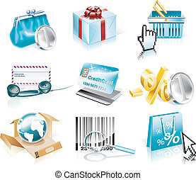 Vector shopping icon set