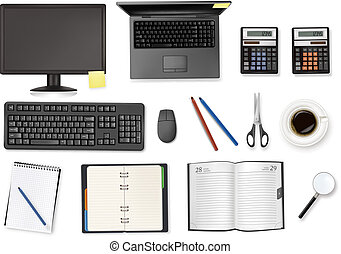 Computer and office supplies. Vecto