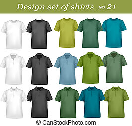 Black, and white men polo shirts