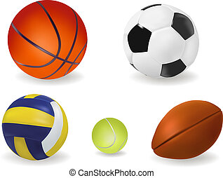 Set of sport balls. Vector