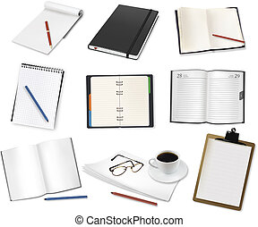 Some office supplies Vector