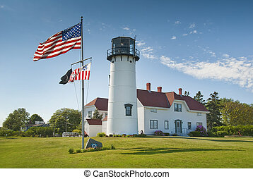 Chatam Lighthouse - Lighthouse located in the town of...