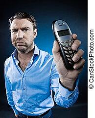 Man Portrait Sulk Show Phone