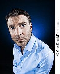 Man Portrait stun - caucasian man stununshaven portrait...